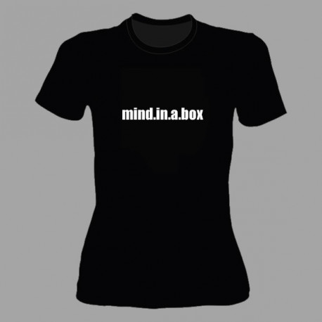 mind.in.a.box TEXT LOGO women t-shirt