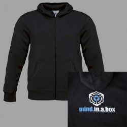 mind.in.a.box CUBE LOGO men hoodie