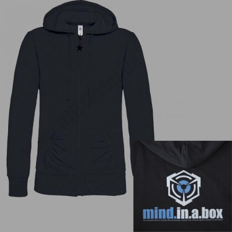 mind.in.a.box CUBE LOGO women hoodie