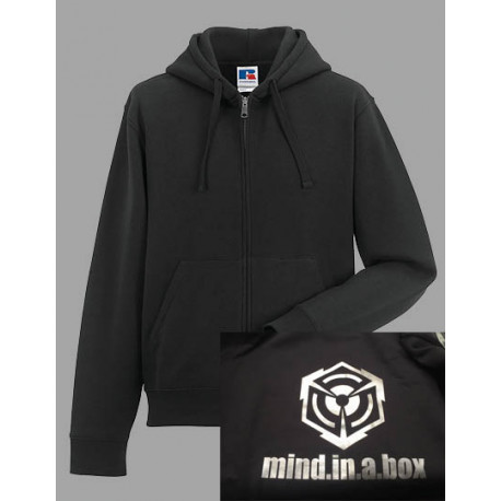 mind.in.a.box SILVER-CUBE LOGO men hoodie