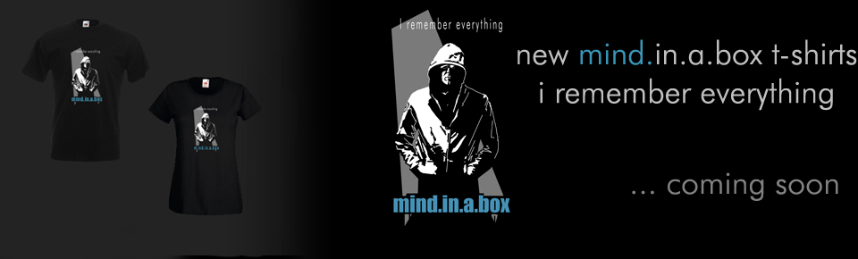 mind.in.a.box tshirts - i remember everything